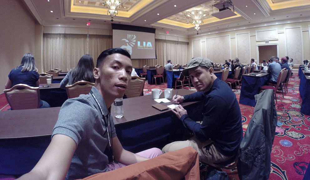 Renaldy and Yogi in Sin City for this years LIA 'Creative Coversations'